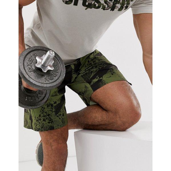 Reebok Crossfit speed shorts in green camo - Green