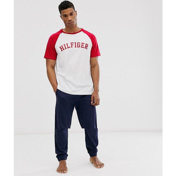 Tommy Hilfiger Pyjama in weiss für Herren, Größe: S