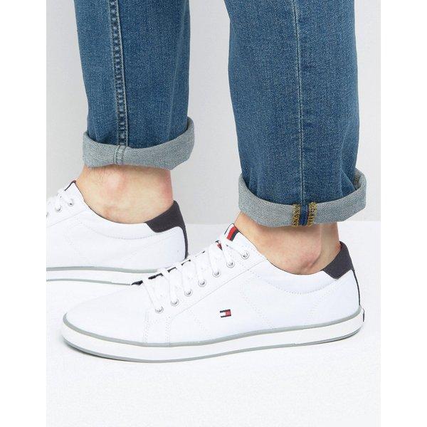 Tommy Hilfiger - Baskets en toile à lacets - Blanc