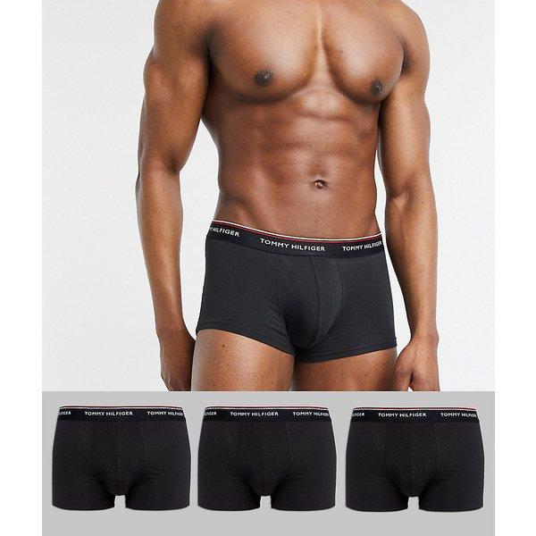 Tommy Hilfiger  PREMIUM ESSENTIALS-1U87903842  men's Boxer shorts in Black