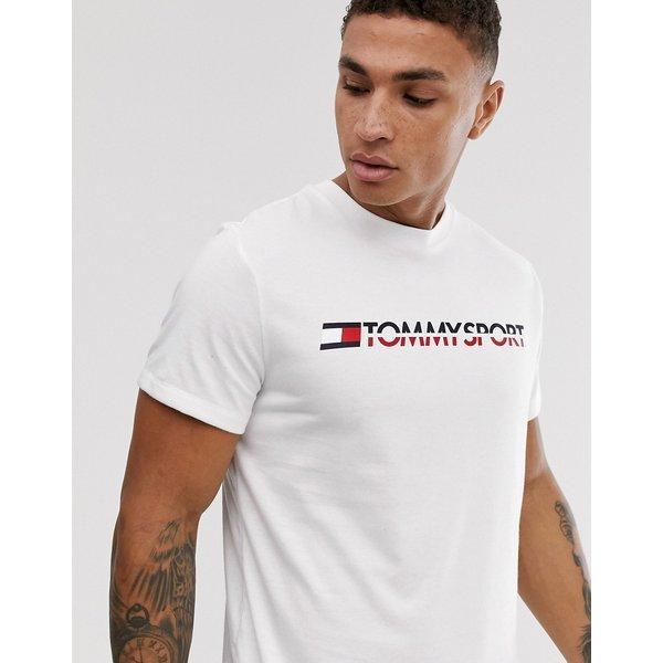 Tommy Sport T-Shirt Herren in pvh white, Größe S