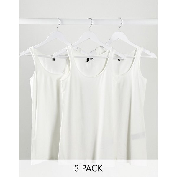 VERO MODA 3-pack Tank Top Women White
