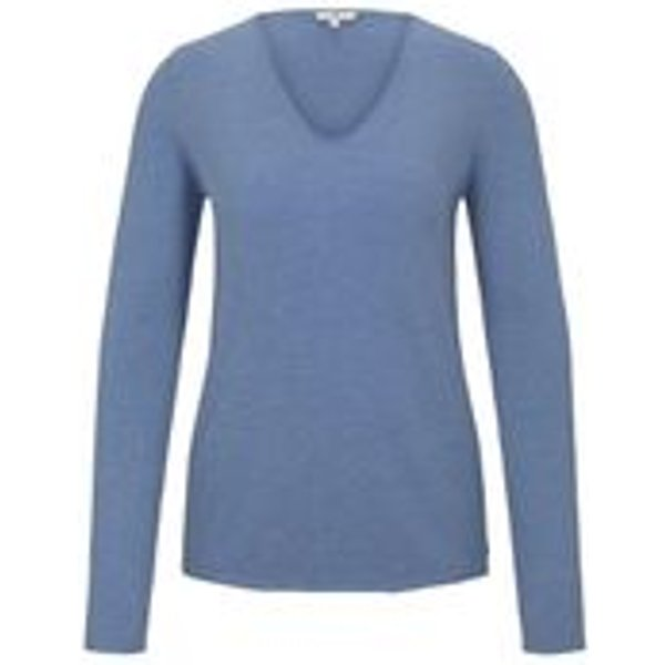 Tom Tailor Pull, Classic Fit, Manches Longues Femme Bleu 3XL
