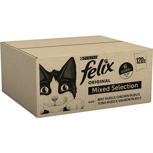 Felix Cat Food Meat And Fish 120x100g, pieces x 120 x 100g
