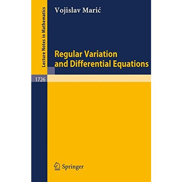 Regular Variation and Differential Equations