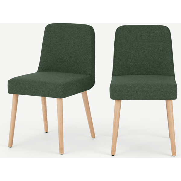 Adams Set of 2 Dining Chairs, Darby Green