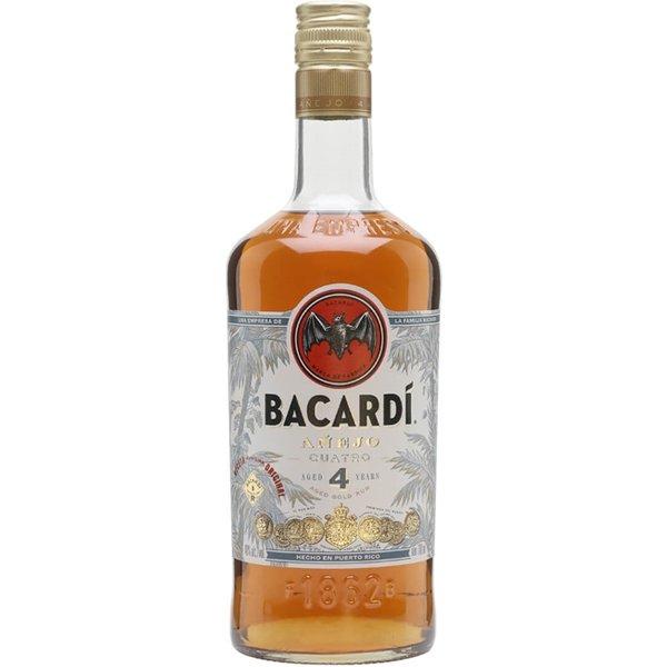 Bacardi Anejo Cuatro Rum 4 Jahre 0,7 L 40%vol