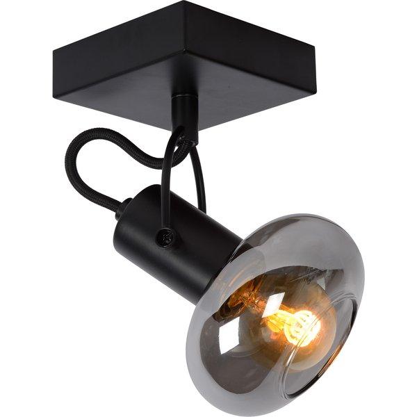 Madee ceiling spotlight, black/smoke, one-bulb