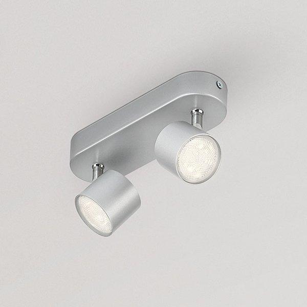 Philips Star pivotable LED-spot grey two-bulb