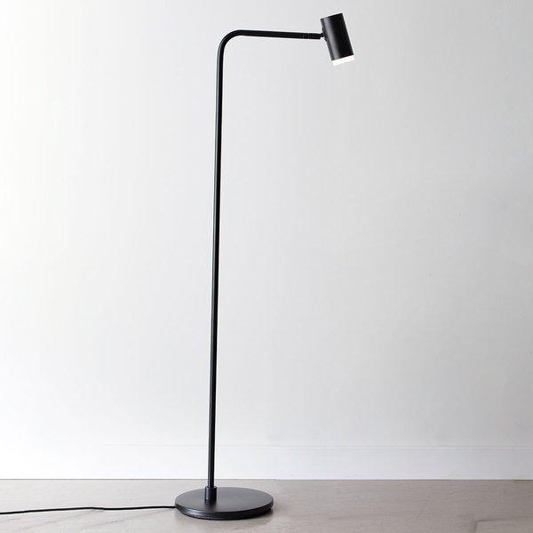 LED-Stehleuchte Cato Q mit Dimmer, schwarz