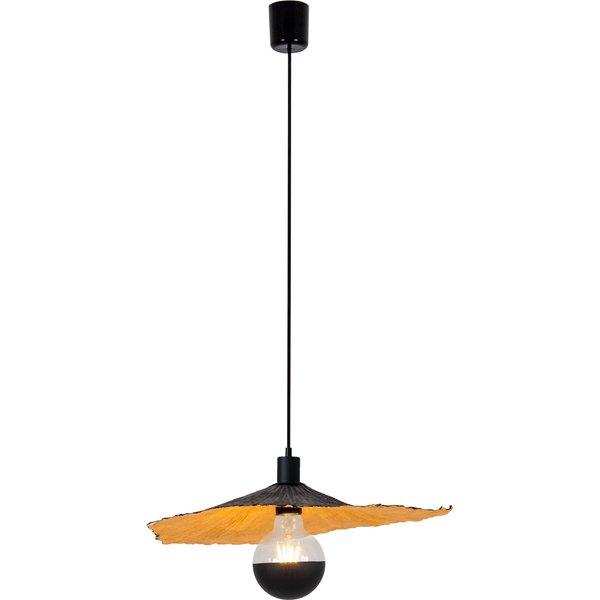 Crazy Paper pendant light, black and gold, Ø 41 cm