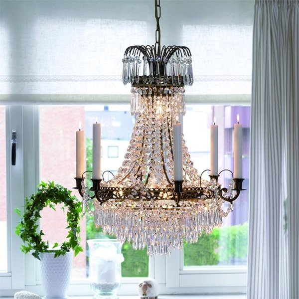 Magnificent candle chandelier Lacko 54 cm