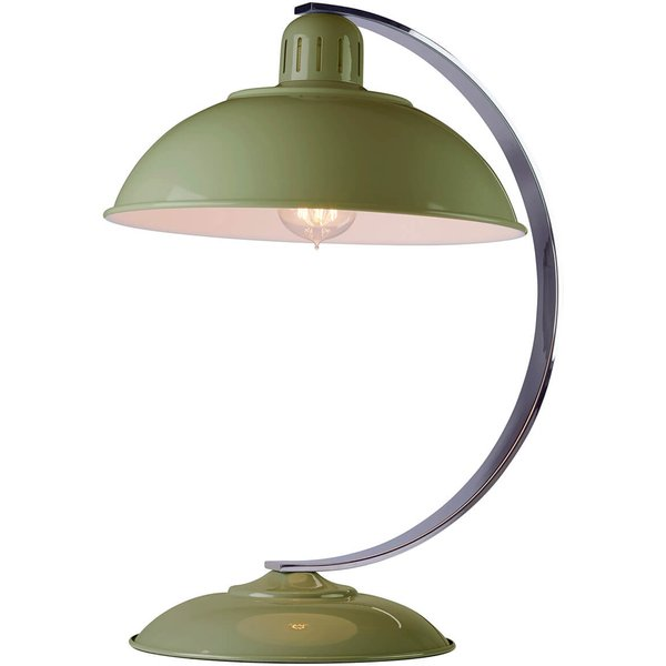 Table lamp Franklin green painted