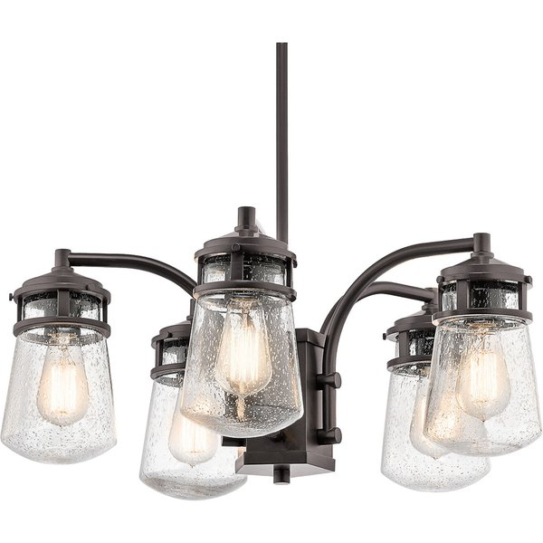 Five-bulb Lyndon outdoor pendant light