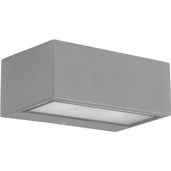 Applique Led Nemesis, aluminium et verre, gris