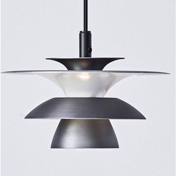 Picasso LED pendant light 1-bulb 18cm grey oxide