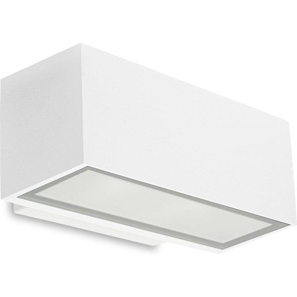 Applique Led 17,5W Afrodita, aluminium et verre, blanc, 22 cm