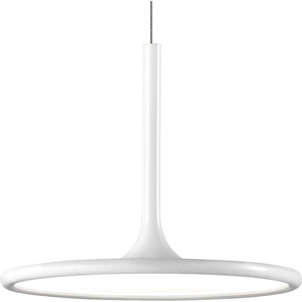 Grok Net LED-Pendellampe in mattem Weiß, Ø 25 cm
