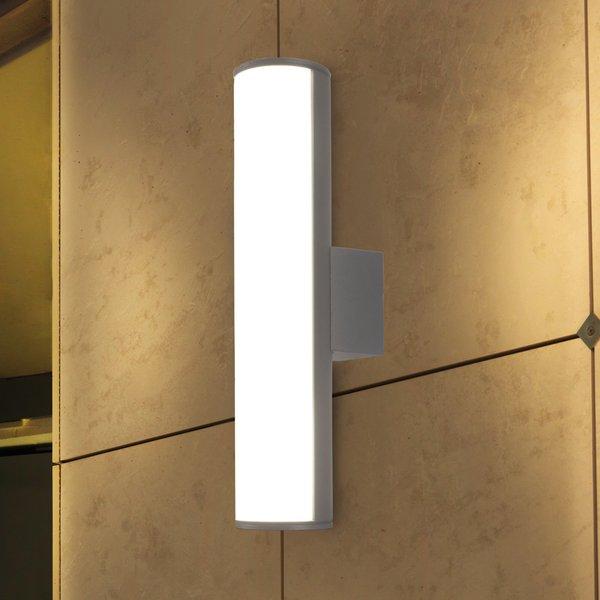 Applique Monaco, aluminium et polycarbonate, gris