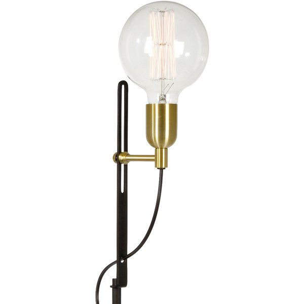 Exquisite floor lamp Regal, black, brass