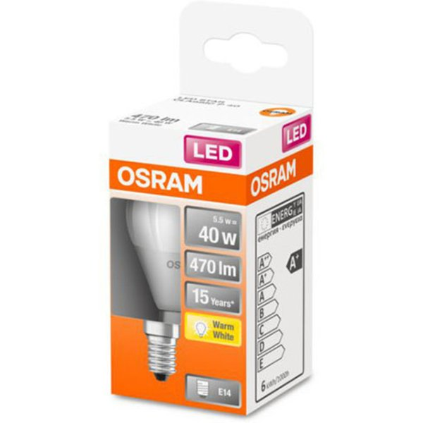OSRAM golf ball LED bulb E14 5.5 W 827 Star, matt