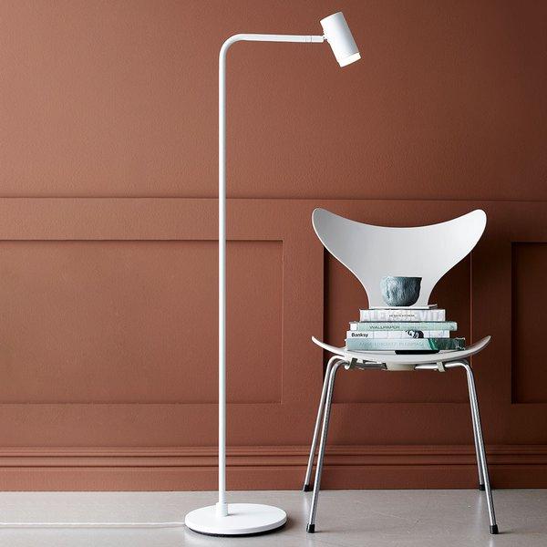 Lampadaire LED Cato Q variateur d'intensité, blanc