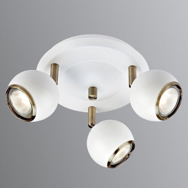 Coco - plafonnier rond à 3 lampes en blanc