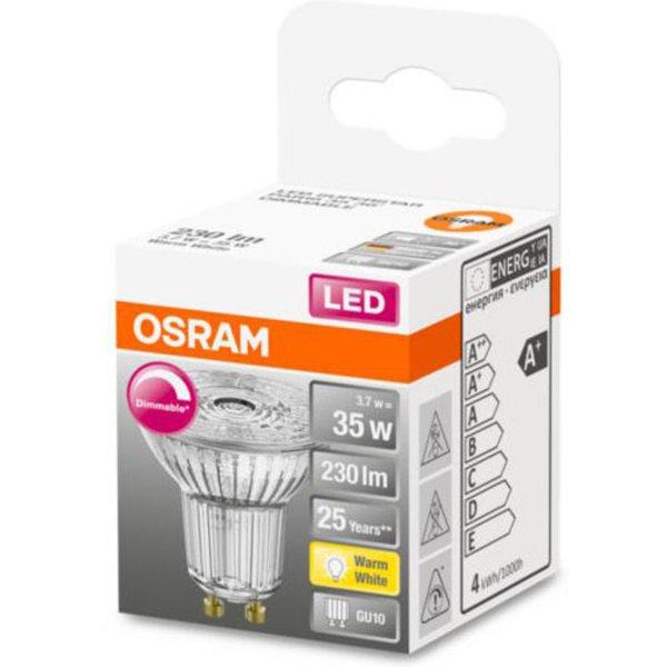 OSRAM LED-Glas-Reflektor GU10 3,7W 927 36° dimmbar