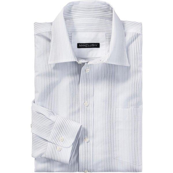 Maxclusiv Langarm-Hemd in unterschiedlichen Dessin