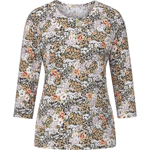 Classic Basics Shirt im sommerlichen Blütentraum