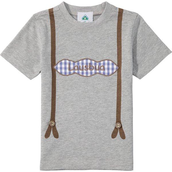 Isar-Trachten Trachtenshirt Kinder mit Hosenträger-Aufdruck