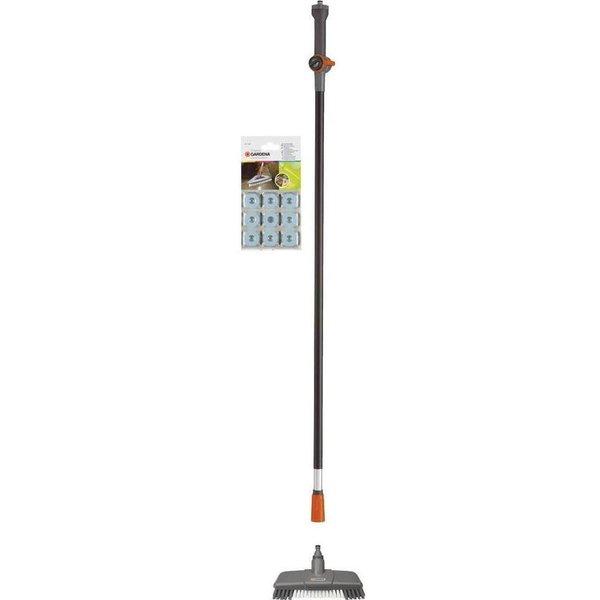 Gardena Cleansystem Bodenwasch-Set 1 x Komfort-Schrubber, Wasserstiel 150 und Universalreiniger