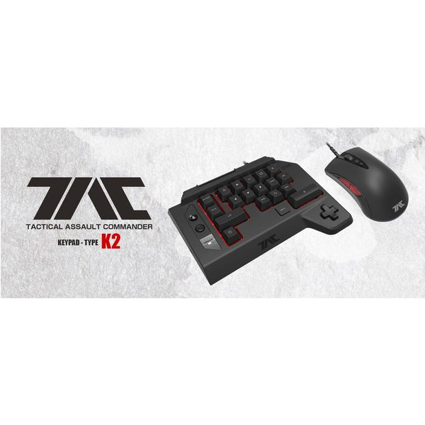 HORI PS4 TAC Four V2.0 - Keypad/Maus (Schwarz)