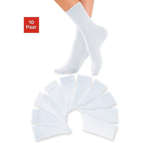 H.I.S Damensocken (10 Paar) weiß