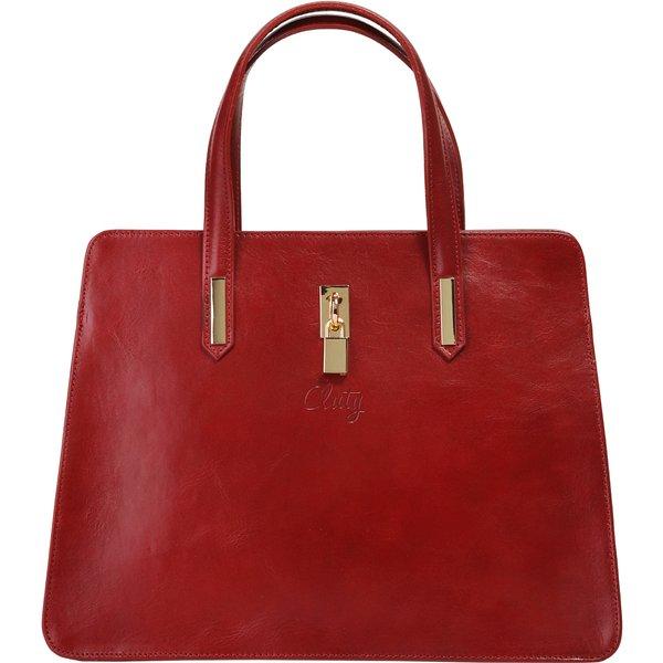 Cluty Handtasche Handtaschen rot Damen