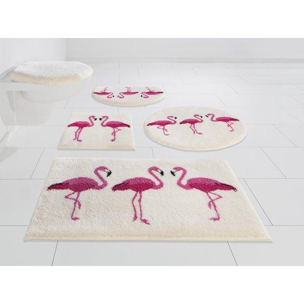 Badematte Flamingos GRUND exklusiv Höhe 20 mm rutschhemmend beschichtet