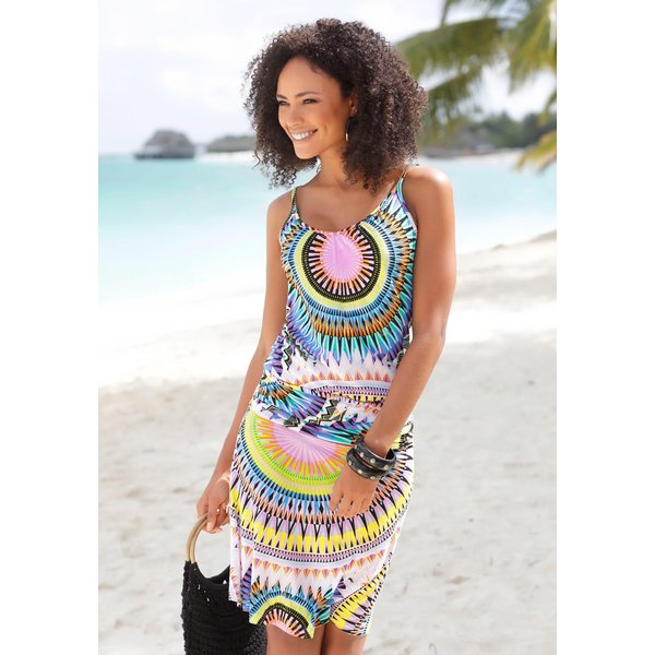 Beachtime Strandkleid mit grafischem Print