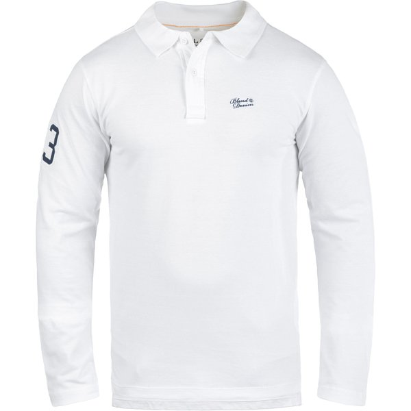 Blend Langarm-Poloshirt »Dahoud« Longsleeve aus 100% Baumwolle