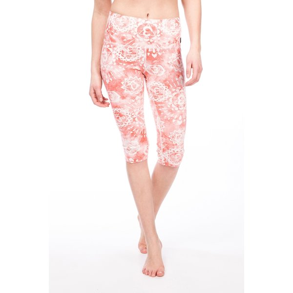 Super.Natural Damen Super Printed 3/4 Tights (Größe S, Orange) | Yogahosen > Damen