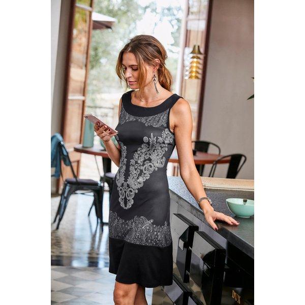 Aniston SELECTED Jerseykleid mit filigranem Druck