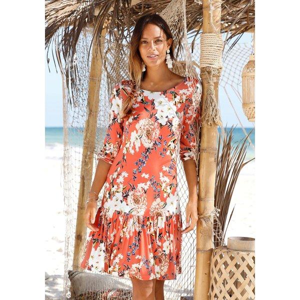 s.Oliver Beachwear Strandkleid mit Blumenprint