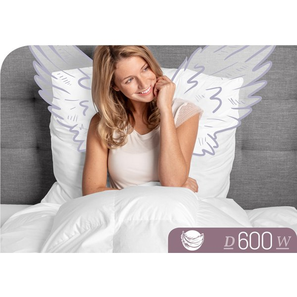 Schlafstil Daunendecke D600 warm, 100% Gänsedaunen