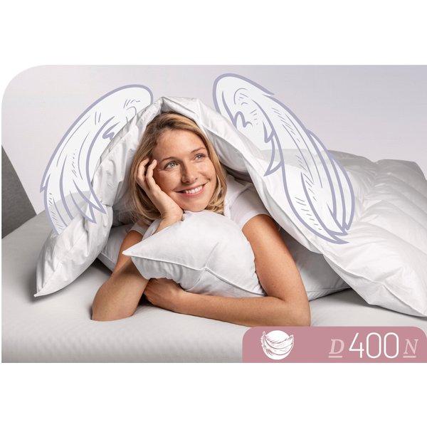 Schlafstil Daunen Cassettendecke D400 normal 90% Daunen, 10% Federn