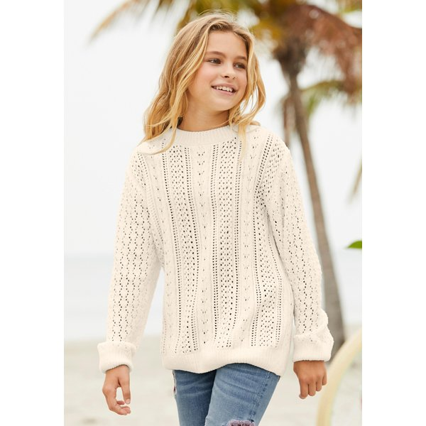 Arizona Strickpullover in Chenillegarn - in weiter Form