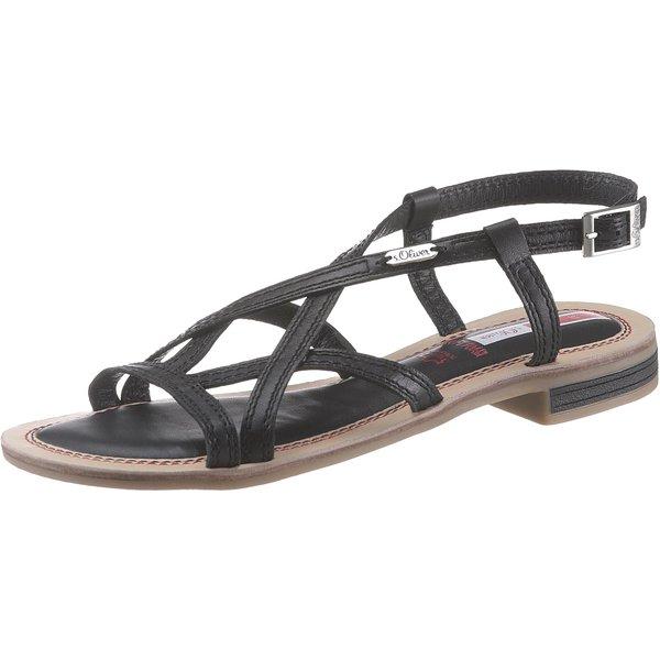 s.Oliver Klassische Sandalen schwarz 42