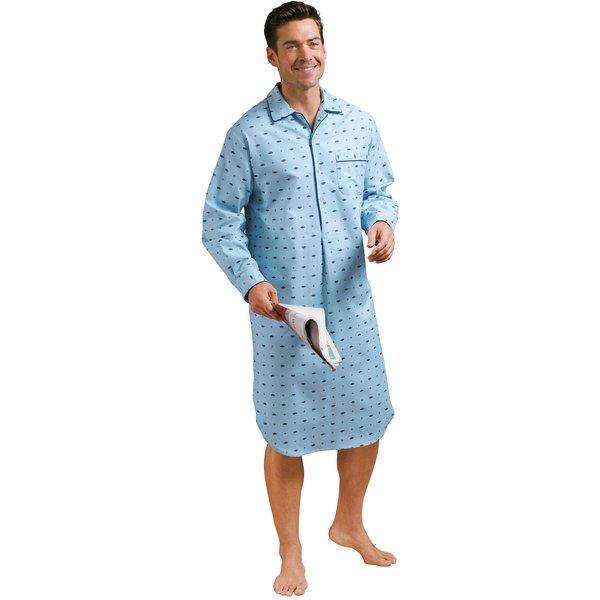 comte mens collection Herren Nachthemd blau Gr. 44/46