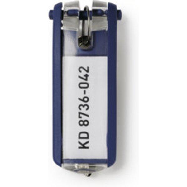 Durable Schlüsselanhänger KEY CLIP - 1957 Blau 6 St. 195707