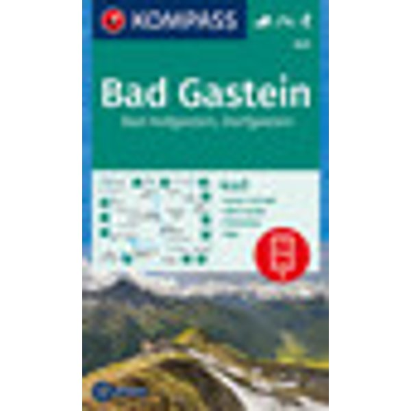 KOMPASS Wanderkarte Bad Gastein, Bad Hofgastein, Dorfgastein
