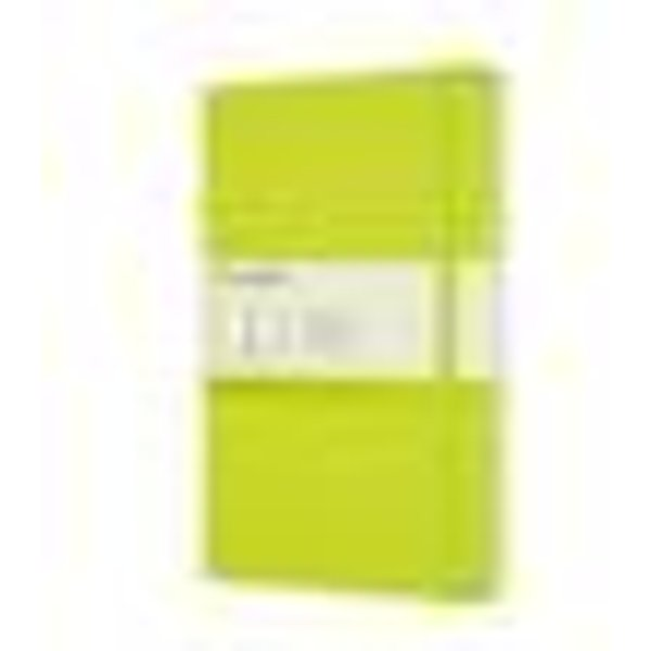 Moleskine Large Plain Hardcover Notebook: Lemon Green