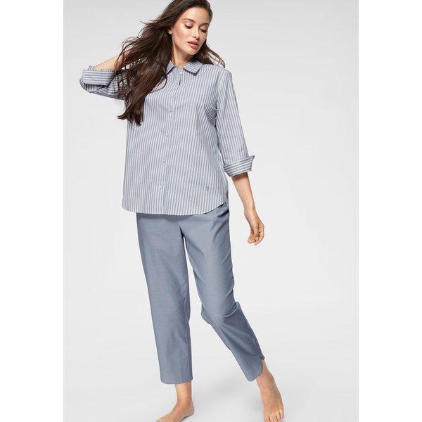 Seidensticker Pyjama in klassischem Schnitt mit Streifenmuster
